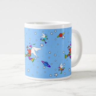 Engels-Typ-Starry Nacht (SkyBlue) Jumbo-Tasse