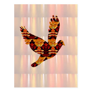 ENGELS-Vogel SCHABLONE färbte einfach, TEXT und I Postkarte