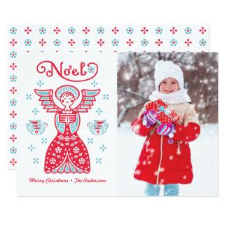 Engels Weihnachten WeihnachtsFoto Feiertags Karte 12,7 X 17,8