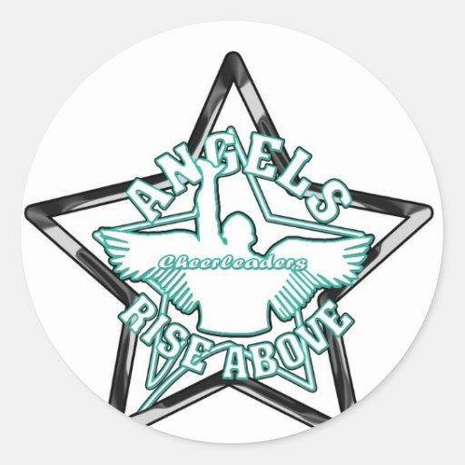 Engelscheerleadern Runde Sticker