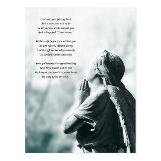 Engelsgebets-Beileidskarten Postkarte