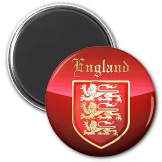 England - das Wappen Runder Magnet 5,1 Cm