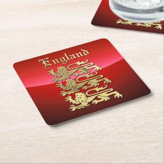 England - die königlichen Arme Rechteckiger Pappuntersetzer