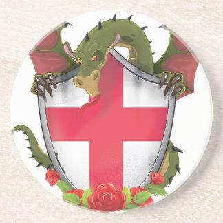 England-Drache Getränkeuntersetzer