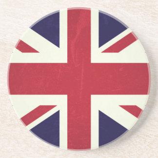 England Fahne Grunged Sandstein Untersetzer