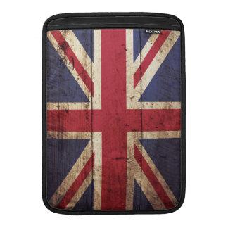 England-Flagge auf altem hölzernem Korn Sleeve Fürs MacBook Air