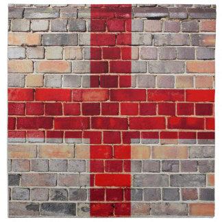 England-Flagge auf einer Backsteinmauer Stoffserviette