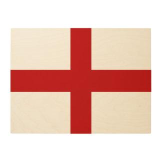 England-Flagge Holzdruck
