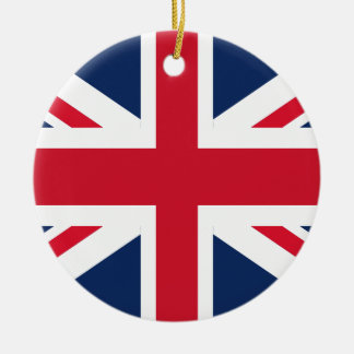 England-Flagge Rundes Keramik Ornament