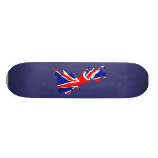 England-Flaggen-Karten-Skateboard Personalisiertes Skateboarddeck