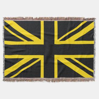 England-Flaggen-Schwarz-Gelb Decke