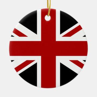 England-Flaggen-Schwarz-rotes Weiß Keramik Ornament