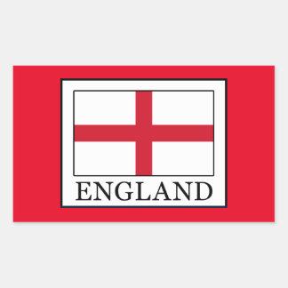 England Rechteckiger Aufkleber