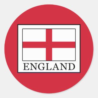 England Runder Aufkleber