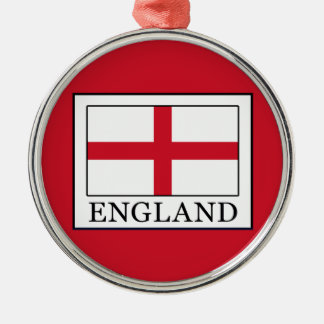 England Rundes Silberfarbenes Ornament