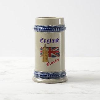 England schaukelt Stein Bierglas