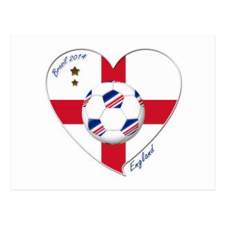 """ENGLAND"" Soccer Team. Fußball von England 2014 Postkarte"
