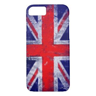 Englandblau und -rote Fahne iPhone 8/7 Hülle