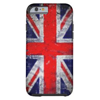 Englandblau und -rote Fahne Tough iPhone 6 Hülle