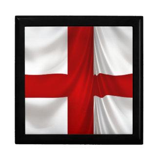 Englands quere patriotische Flagge St George Schmuckschachtel