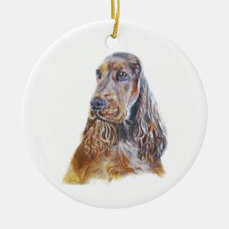 Englisch Cocker spaniel Rundes Keramik Ornament