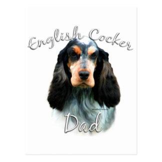 Englisch-Cocker spaniel-Vati 2 Postkarte