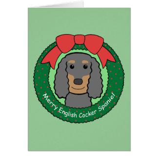 Englisch-Cocker spaniel-Weihnachten Karte