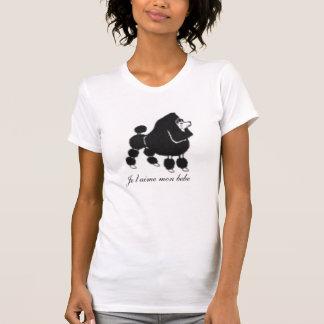 Englisch-Klipp-Pudel, Je t'aime Montag bebe T-Shirt