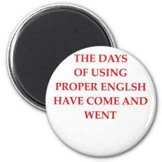ENGLISCH RUNDER MAGNET 5,7 CM