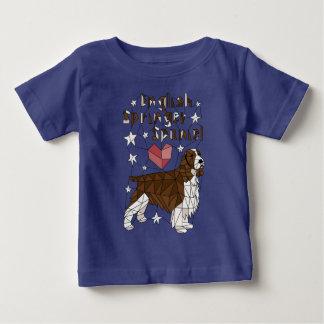 Englisch-Springer-spaniel-geometrisch-T-StückShirt Baby T-shirt