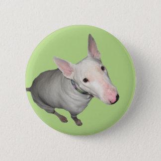 Englisch-Stier-Terrier-Sitzen hübsch Runder Button 5,7 Cm