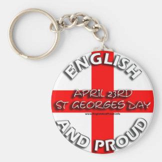 Englisch und stolz - Schlüsselkette Standard Runder Schlüsselanhänger