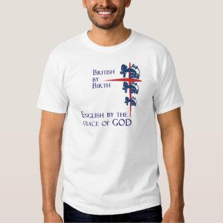 Englisch von Gnaden des Gott-Fußball-Fan-T - Shirt