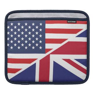 Englische amerikanische Flagge 1 Sleeve Für iPads