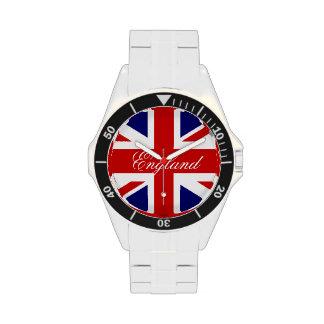 Englische Armbanduhren mit Gewerkschafts-Jackflagg Handuhr