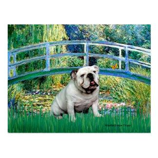 Englische Bulldogge 9 - Brücke Postkarte