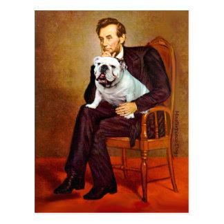 Englische Bulldogge 9 - Lincoln Postkarte