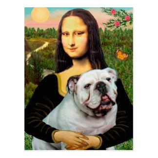 Englische Bulldogge 9 - Mona Lisa Postkarte