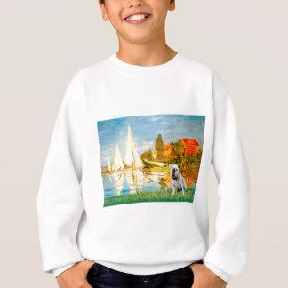 Englische Bulldogge 9 - Segelboote 2 Sweatshirt