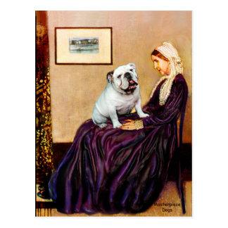 Englische Bulldogge 9 - Whistler' s-Mutter Postkarte