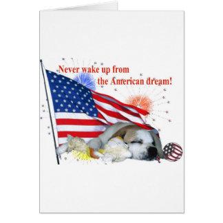 Englische Bulldogge - amerikanischer Traum Karte