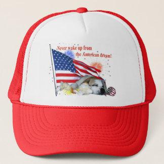 Englische Bulldogge - amerikanischer Traum Truckerkappe