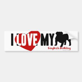 Englische Bulldogge Autoaufkleber