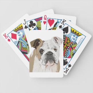 Englische Bulldogge Bicycle Spielkarten