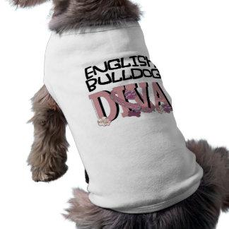 Englische Bulldogge DIVA Ärmelfreies Hunde-Shirt