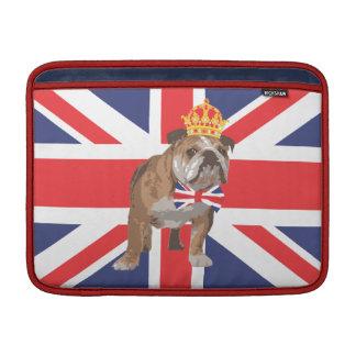 Englische Bulldogge mit Krone Macbook Abdeckung MacBook Sleeve