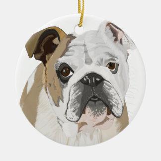 Englische Bulldogge Rundes Keramik Ornament