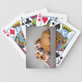 Englische Bulldogge Schlafens Bicycle Spielkarten
