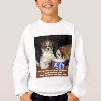 Englische Bulldogge und Welpe Shih Tzu Sweatshirt