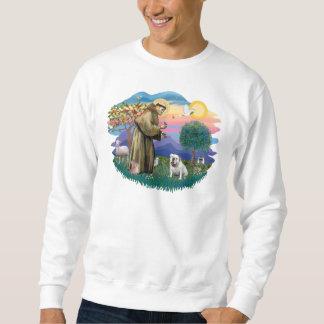 Englische Bulldogge (weiß) Sweatshirt